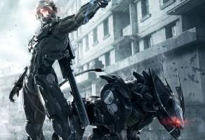 Райден и боевой робот в Metal Gear Rising: Revengeance